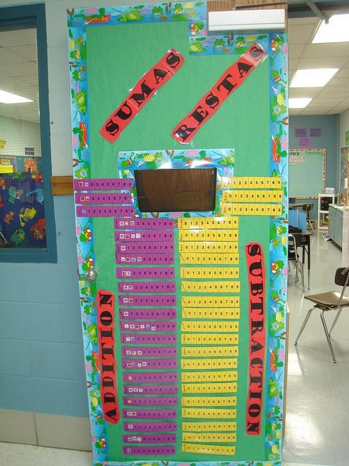 addition and subtraction bulletin board